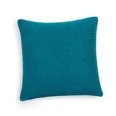 Coussin en coton bleu 50 x 50 cm NASH