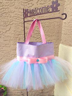 Purple Pink and Blue Tutu Bag  Dance Bag  Ballet Tutu by tavatotes, $28.00