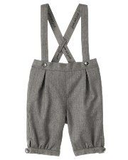 Herringbone Suspender Suit Trouser for baby.  You can also get the coordinating vest, white shirt and saddle shoes.