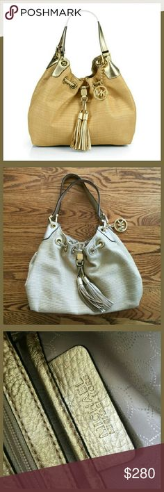 Michael Kors Camden Tote These puctures are ones I took myself. Used 3 times. In excellelent condition! Gold in color. Michael Kors Bags