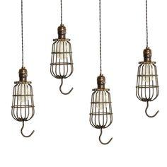 Vintage Industrial Cage Trouble Light Pendants