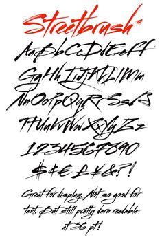 Typography Alphabet :: Streetbrush