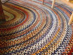 Braided Wool Rug Woven Thrift Art Old Clothes Making