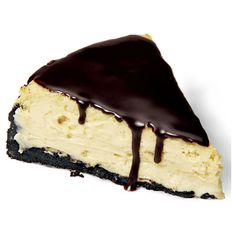 Chocolate Peanut Butter Cup Cheesecake ❤ liked on Polyvore featuring food, filler, food and drink and food & drinks
