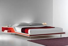 Modern bed with built in unit