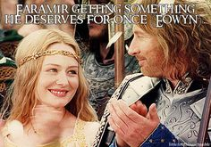 Faramir getting somethinghe deserves for once (Eowyn).  Submitted by:musicinmyheartbeat.