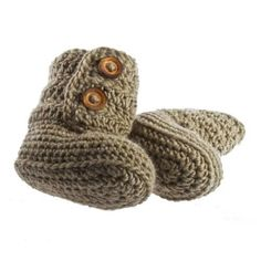 Merino Wool Baby Bootees - Product Id 3020 from Gift Wrapped & Gorgeous Booties Crochet, Baby Bootees, Wool Thread, Khaki Green, Merino Wool, Snug, Kids Fashion, Gift Wrapping, Booty