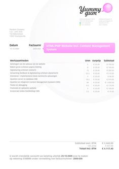 Simple A Invoice Pinterest A Template And Business - Web design invoice example