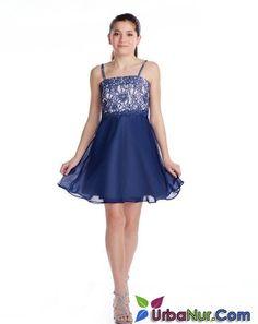 76fc86e9ea362 12 Yaş Abiye, Mezuniyet Elbise Modelleri Mavi Kısa Askılı Kloş Etek Güpür  Dantelli Gelinlikler,