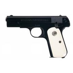 """Excellent Colt Model """"1908"""" .380 Pocket Hammerless Semi-Automatic Pistol with Custom Ivory Grips"""