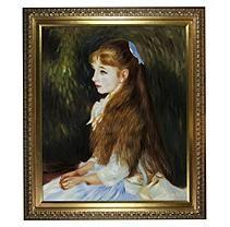 Hand-painted Oil Reproduction of Pierre Auguste Renoir's Irene Cahen d'Anvers (1872-1963), 1880.