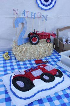 Vintage tractor birthday party