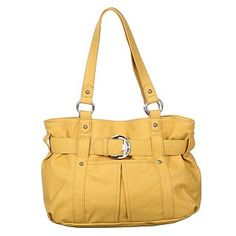 Yellow Belted Shopper bag