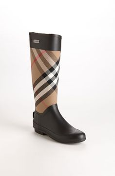 Burberry rain boots - they almost make me wish for rain! Burberry Boots fa78e8af08a