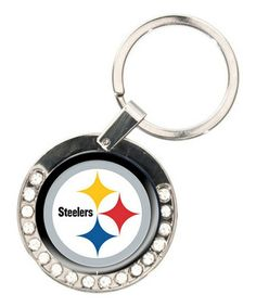 Take a look at this Pittsburgh Steelers Rhinestone Key Chain by Great American Products on #zulily today!