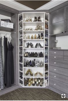 25 Luxury Closets for the Master Bedroom The best of luxury closet design in a selection curated by Boca do Lobo to inspire interior designers looking to finish their projects. Discover unique walk-in closet setups by the best furniture makers out there Walk In Closet Design, Bedroom Closet Design, Master Bedroom Closet, Closet Designs, Master Bedrooms, Diy Bedroom, Master Suite, Trendy Bedroom, Luxury Master Bedroom
