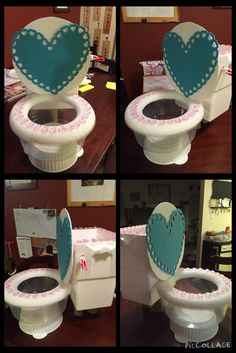Schön Valentineu0027s Box Toilet And A Link To Lots Of Other Box Ideas!! | Valentines  | Pinterest | Toilet