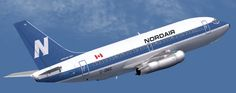 My first ride on a jet was a Nordair 737 like this one. Nordair wasn't a legacy airline, but it was eventually acquired by one.