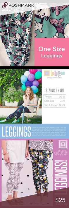 """Brand new Lularoe OS Leggings Disney Mickey Mouse Having the nickname """"butter leggings"""" is just a sign that our leggings are the softest around. Our leggings are ultra stretchy and super soft. They are as close to your own skin as you can get while still being clothed. Coming in both solid colors and a variety of patterns you are bound to end up with a pair for each day of the week. LuLaRoe Pants Leggings"""