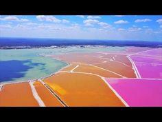 Las Coloradas, Pink Lakes YUCATAN, Mexico - YouTube