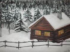 Szántó Ágnes Havas ház Porpasztell Snow, Paintings, Outdoor, Outdoors, Paint, Painting Art, Outdoor Games, Draw, Painting