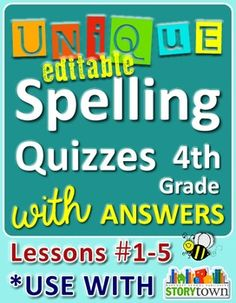 David colby dctpt on pinterest storytown grade 4 unique spelling quizzes w answers lesson free fandeluxe Image collections