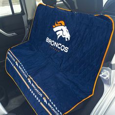 NFL CAR SEAT COVER PROTECTOR. DOG auto back rear bench bucket seats, quilted with Velcro seatbelt openings, underside grip, anchors, side flaps, strap. Secure cover for TRUCKS, SUV. FITS MOST CARS! -- Want additional info? Click on the image. (This is an affiliate link) #CatCagesCarrierandStrollers