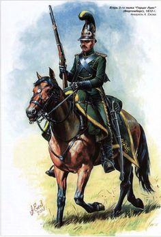 3er Regimiento de Cazadores 'Duque Luis' (Wurtemberg), 1812, by Alexandr Yezhov.