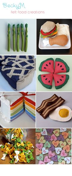 cute felt food creations @Stacey Hennigan we need to make these for D and they would make cute gifts!