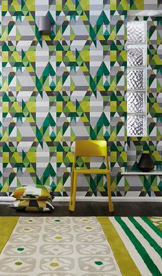 Axis wallpaper from Scion is a glorious kaleidoscopic mix of geometric shapes and vibrant colours that deliberately clash to great effect!