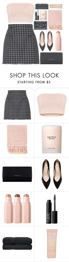"""""""sugar & spice"""" by charli-oakeby ❤ liked on Polyvore featuring Thom Browne, Surya, Estée Lauder, Givenchy, NARS Cosmetics and Maybelline"""