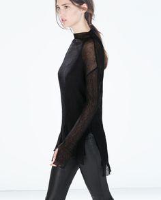 Image 3 of ORGANZA SWEATER from Zara