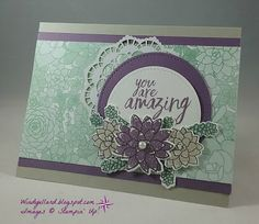 Windy's Wonderful Creations: PP339 You Are Amazing!, Stampin' Up!, Succulent Garden DSP, Oh So Succulent, Succulent framelits dies, All Things Thanks