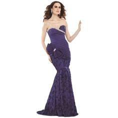 Pre-owned Royal New 92026 In Size 8 Dress ($415) ❤ liked on Polyvore featuring dresses, royal, tarik ediz dresses, cocktail prom dress, purple prom dresses, purple cocktail dress and pre owned dresses