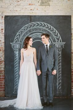 Chalkboard Backdrop -- LOVE! See more on SMP, here: http://www.StyleMePretty.com/2014/05/30/a-sleeping-beauty-inspired-wedding-shoot/ Chalkboard Design: LettersInInk.com -- Photography: AllanZepeda.com
