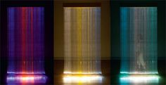 Experimental textile designer Astrid Krogh exhibits a large installation made from a series of weavings in optical fibres and paper yarn. SKY at Galerie Maria Wettergren is a 'Gesamtkunstwerk' that illustrates what light and textiles can add to a room.