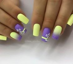 If you are looking for the most popular Easter nail design of then you are in the right place. We have collected dozens of cute Easter nail designs, and you will love it . nails design gel Cute Easter Nail Designs You Have to Try This Spring Fancy Nails, Trendy Nails, Diy Nails, Yellow Nails Design, Yellow Nail Art, Easter Nail Designs, Best Nail Art Designs, Newest Nail Designs, Beachy Nail Designs