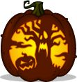 Root Of All Evil pumpkin pattern - Pumpkin Carving Patterns and Stencils - Zombie Pumpkins!