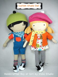 Custom Made Doll  Boy or Girl Studio Doll  Handmade by ViolaStudio, $199.00