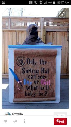 Harry potter gender reveal..yesss