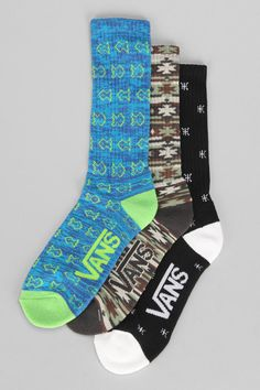 Vans Gifford Crew Sock-- Pack of 3 - Urban Outfitters