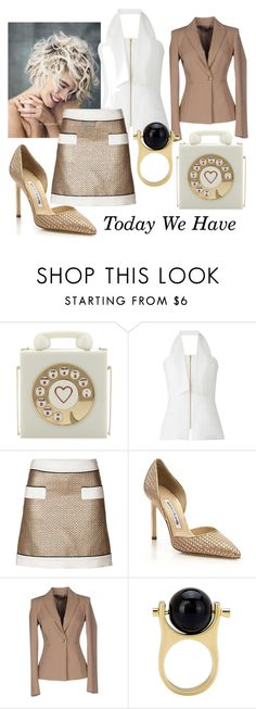 """Today We Have"" by kotynska-zielinska ❤ liked on Polyvore featuring Charlotte Olympia, Amanda Wakeley, Moschino, Manolo Blahnik and Annarita N."