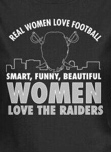 Real Woman Love Raider Football