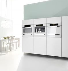 "Miele's ""Brilliant White Plus"" Makes Its American Debut. Plus, white is the new stainless. It's so hot right now. White."