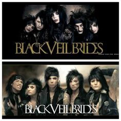 Black Veil Brides before and after. I love them either way! Real fans don't like them for their look! We like them for who they are!