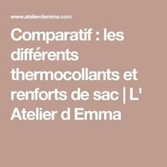 Comparatif : les différents thermocollants et renforts de sac | L' Atelier d Emma