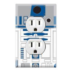 Star Wars R2-D2 R2D2 Decorative Duplex Outlet Wall Plate Cover, http://www.amazon.com/dp/B00KGSFG8W/ref=cm_sw_r_pi_awdm_knCNtb1AJ42W7