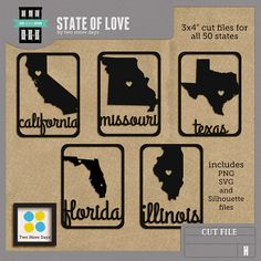 State of Love cutting files (when I get a silhouette!)