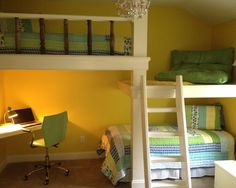 Floating Bunk Bed Design, Pictures, Remodel, Decor and Ideas - page 120  This might be the one that will work...
