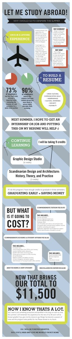 Study Abroad Infographic by Cayetana Suzuki, via Behance
